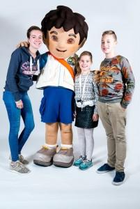 Alle kinderen konden op de foto met Spongebob of Diego