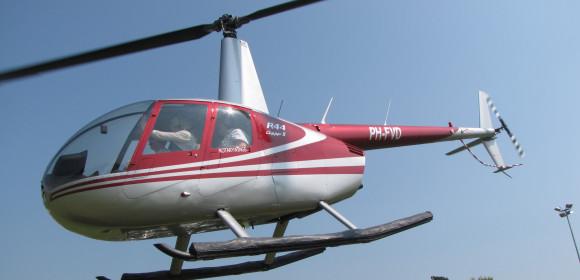 Altijd al met een helikopter willen vliegen??